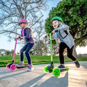 Neon Vybe Kick Scooter Glider Pink LED for Kids @ Walmart