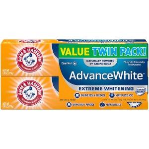 买3立减$5 平均$1.64/支Arm & Hammer 小苏打薄荷亮白牙膏 6oz 2个装