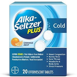 Alka-Seltzer Plus Cold Medicine, Tablets With Pain Reliever/Fever Reducer, 20 Count