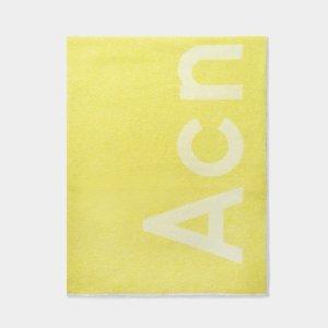 Acne Studios Acen柠檬黄羊毛围巾