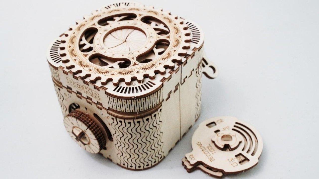 Rokr - DIY木质密码百宝盒 - 完美的机械结构你值得拥有!