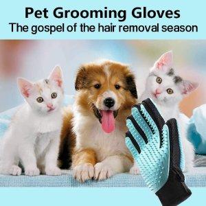 6.9折仅€8.99 德亚4k+好评Fretod 刷毛手套 撸猫撸狗神器 还能清洁衣服家具上的毛哟