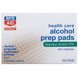 Rite Aid Health Care Alcohol Prep Pads - 200 ct