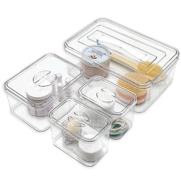 Stackable 浴室收纳盒4件套