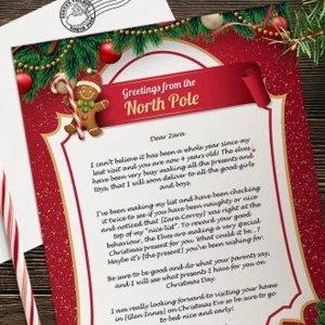 £3.99订制圣诞老人祝福圣诞老人定制信封热促 心意满满的礼物