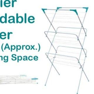 低至9折 现价£13.48(原价14.98)三层立体晾衣架 充分利用空间 轻松折叠