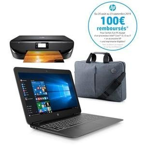 HP返现€100笔记本+打印机+电脑包