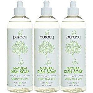 Puracy Natural Liquid Dish Soap (Pack of 3)