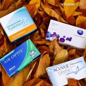 订购8折+免邮 新用户9折Visionpros 隐形眼镜热卖 多品牌选择 你清晰世界的供货商
