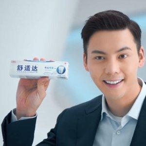 $39.95(原价$137.88)霆止敏感Sensodyne 舒适达口腔专家建议的抗敏牙膏(12支装)
