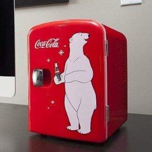 现价$66.49+免邮Coca-Cola 4L迷你冰箱 仙女的面膜小冰箱 5款可选