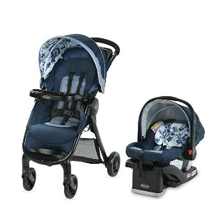 Amazon Graco FastAction SE Travel System | Includes FastAction SE Stroller and SnugRide 30 LX Infant Car Seat, Tessa