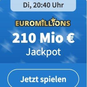周二/五开奖 2注机会只要€1年度大奖!EuroMillions 彩票奖金累计2.1亿欧元 妥妥16,5亿人民币呀