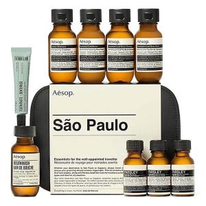 €47.96(原价€63.95)Aesop 2款城市限定旅行护肤10件套直接7.5折 含香芹籽精华