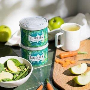 5罐装仅€21.90Kusmi Tea 罐装茶 法国人气美容养颜茶  带有花香味的绿茶