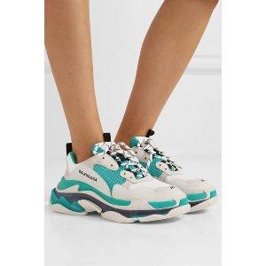 Triple S 灰绿色运动鞋