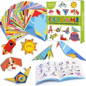 $16.99(原价19.99)hapray 儿童双面趣味折纸 6英寸118张 创意立体图案