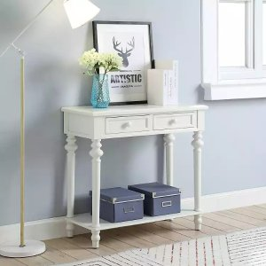 Heidi White 2-Drawer Console Table