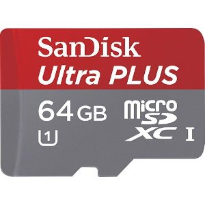 $13.99 (原价$89.99)SanDisk Ultra PLUS 64GB 内存卡