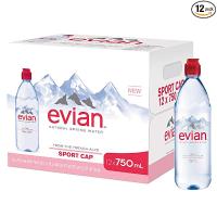 依云天然矿泉水 运动瓶口 750ml 12瓶