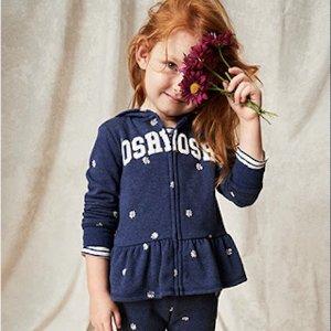 低至5折 卫衣裤3件套$45OshKosh BGosh 儿童新款卫衣卫裤优惠 经典款回归