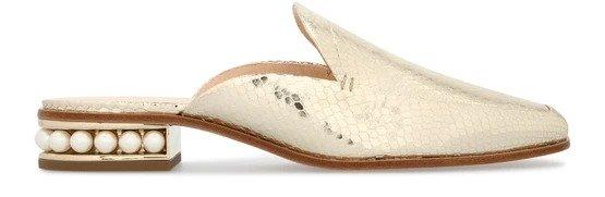 Casati 珍珠平跟穆勒鞋