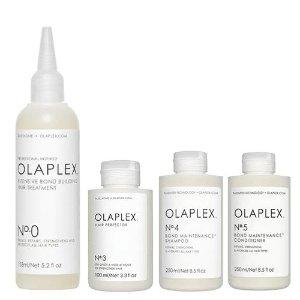 变相9折+返$35、送13件套上新:Olaplex 强力修复护发套装 在家享受沙龙护理