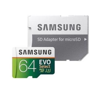 $29.99 (原价$44.97)Samsung EVO U3 100MB/s 64GB microSD 存储卡 3个