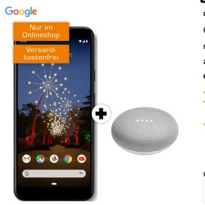 一次性购机费49欧送Google Pixel 3a+Google Home Mini包月电话+4GB LTE 上网,月租仅11.99欧