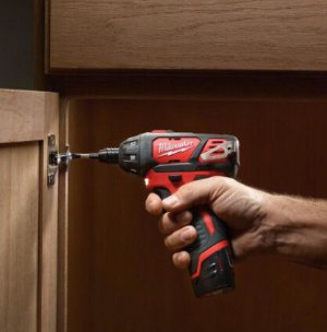 $99 Milwaukee M12 12-Volt Lithium-Ion 1/4 in. Hex Cordless Screwdriver Kit W/ Free M12 XC Battery Pack 3.0Ah