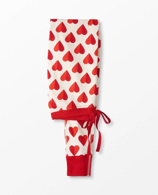 情人节款 有机棉 成人睡裤