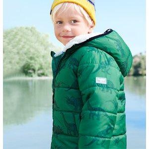 Oshkosh恐龙图案男小童保暖外套