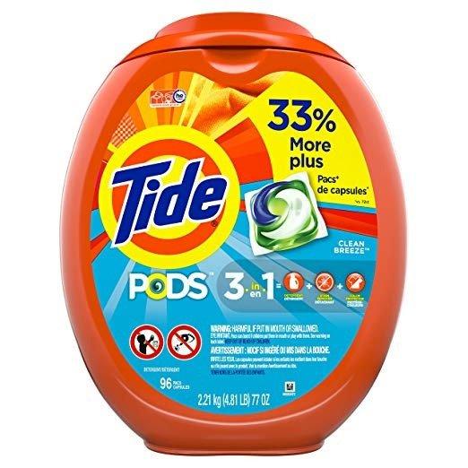 96个三合一洗衣球 Clean Breeze Scent香味