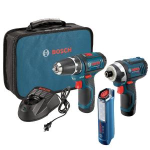 $129限今天:博世Bosch CLPK22-120 12伏 锂电池电钻/冲击钻(2个)