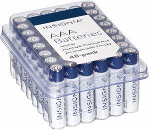 $7 Insignia AA AAA Batteries (48-Pack)