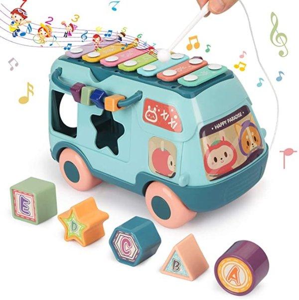 Fansteck 儿童音乐巴士益智玩具
