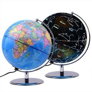 Illuminated Constellation World Globe