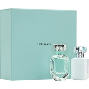 免邮中国仅¥437/套补货:Tiffany 蒂芙尼 钻石瓶香水礼盒(香水50ml+身体乳100ml)