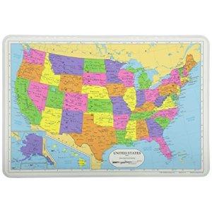 地图餐垫 美国