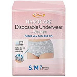 Amazon.com: HASOCARE Disposable Moisture Wicking Briefs (without pad) For Women 7 Count: Health & Personal Care