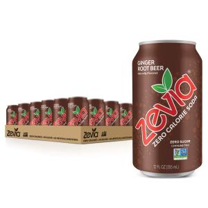 $13.3 一罐只要$0.55Zevia 零卡路里碳酸饮料 Ginger Root Beer 口味 24罐装