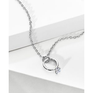 Via Code DMMERNMini Diamond Engagement Ring Necklace - In 14kt White Gold - (0.07 CTW) | Ritani