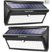 Luposwiten 超亮无线太阳能户外车库灯 2个装  运动传感开关