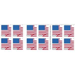 USPS Forever 美国国旗邮票 100张