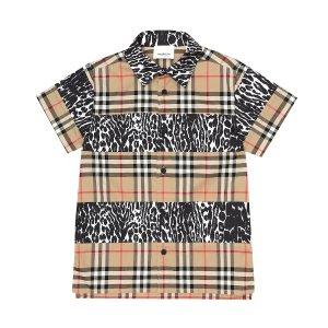 Burberry Kids格纹衬衫