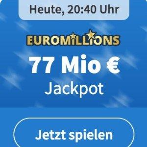 周五开奖 本月最高奖金来啦EuroMillions 彩票奖金累计7700万欧元  1000次机会只要1欧