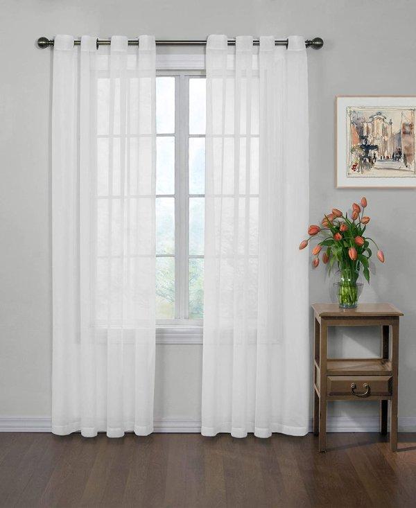 "Curtain Fresh 单片中和异味白色窗帘,59"" x 120"""