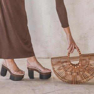 低至5折+额外8折 $72起收竹篮包Cult Gaia 美包美鞋专场 度假风小众包