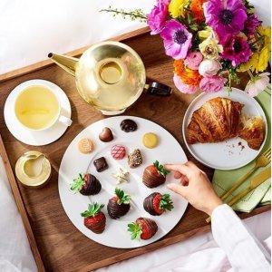 全场额外8折+免邮最后一天:Godiva 母亲节巧克力推荐 DIY草莓巧克力食谱