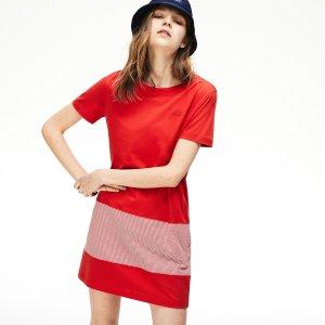 低至5折LACOSTE官网 精选女装美裙、时尚运动衫热卖